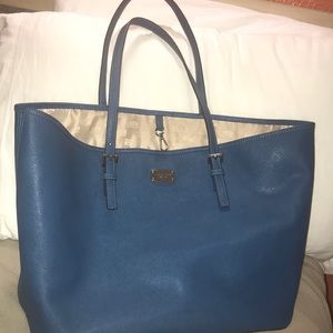 Michael Kors Royal Blue Shopping Tote Like New!